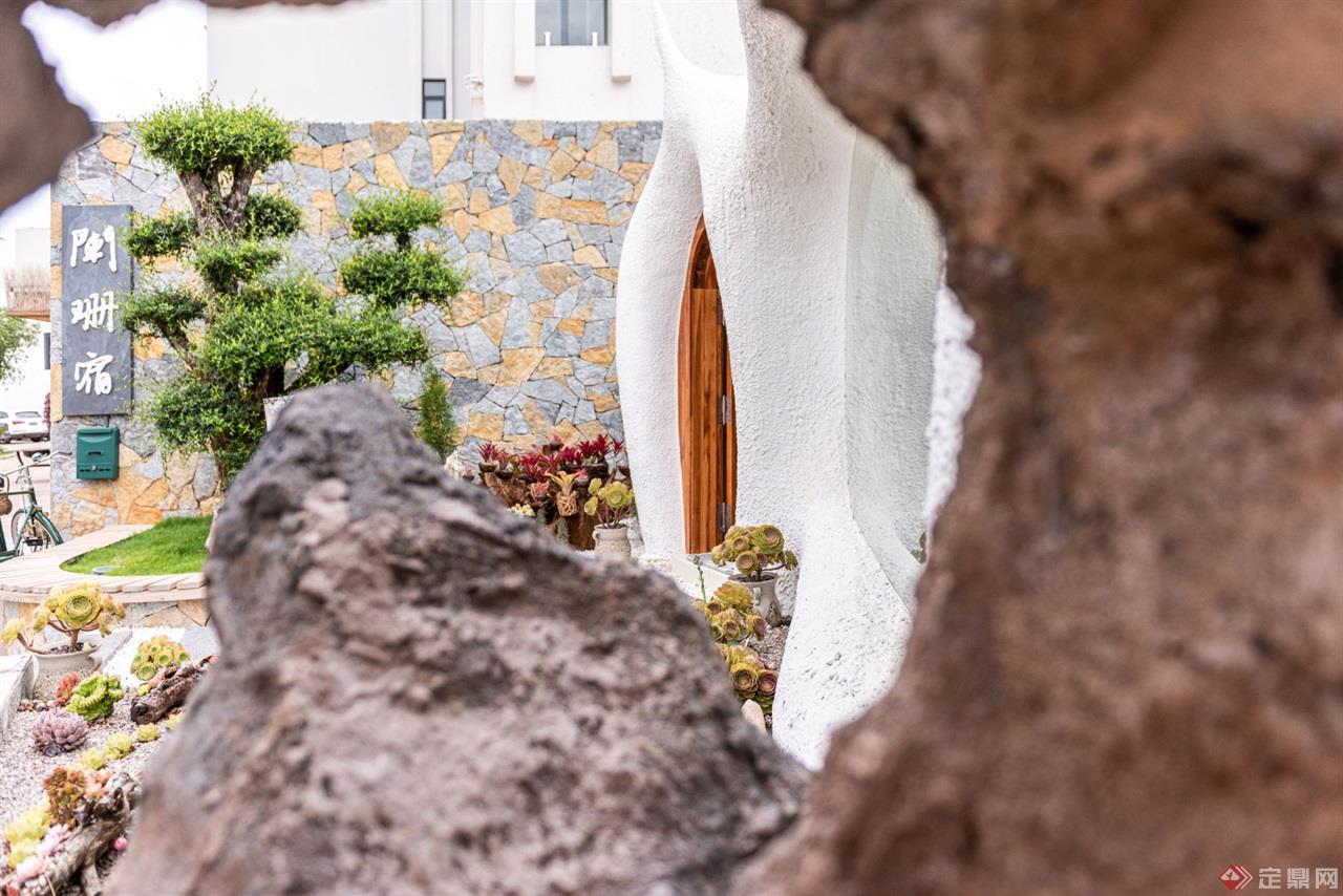 蚁穴酒店建筑外观细处
