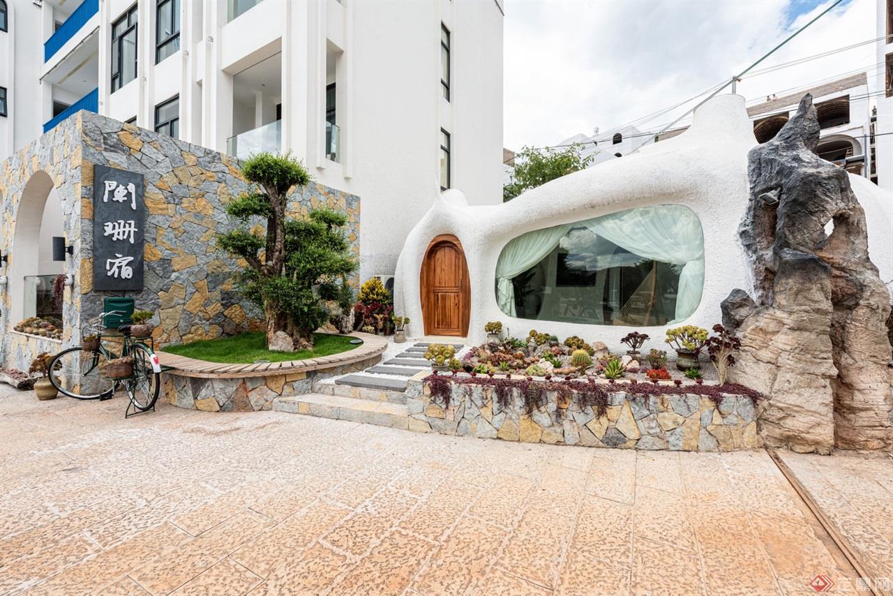 蚁穴酒店建筑外观全景