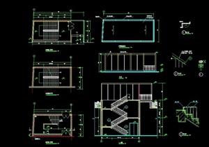 詳細的樓梯臺階素材cad施工圖