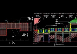 详细的完整平台和亭cad施工图