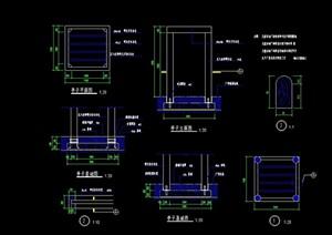 详细的亭子结构节点cad施工图