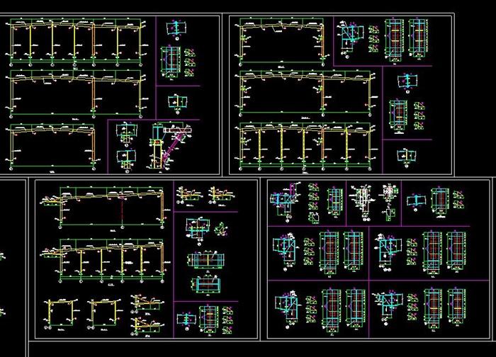某FM認證鋼結構廠房結構施工圖(4)