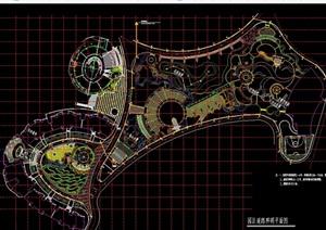 現代完整游園景觀規劃cad方案