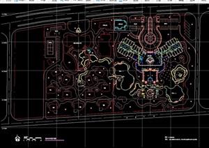 詳細的整體別墅住宅景觀cad方案圖