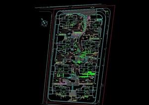 某詳細的整體住宅小區規劃設計cad方案圖