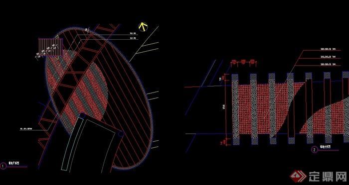詳細的兩個鋪裝鋪地節點cad施工圖
