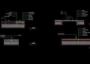 詳細的完整地面鋪裝節點cad施工圖