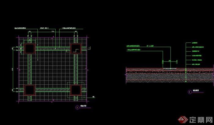 詳細的整體鋪地節點cad施工圖