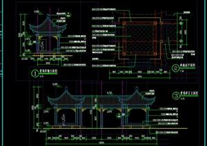 """景觀""""亭廊""""施工圖CAD"""