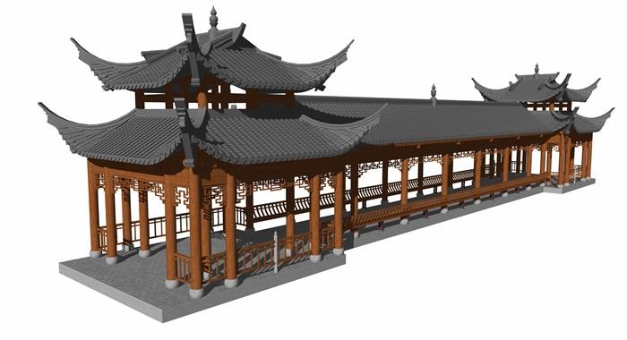 4中式廊橋模型(1)