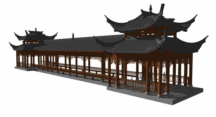 4中式廊橋模型(2)