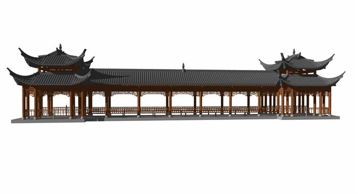 4中式廊橋模型(3)