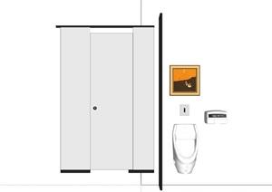 某衛生間衛浴組合SU(草圖大師)模型