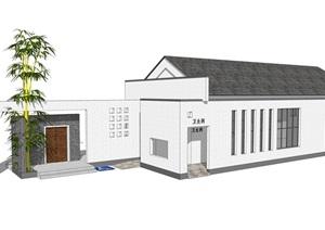 新中式公廁公園小型新農村公共衛生間旅游景區公共廁所方案SU模型22