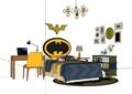 现代风格儿童卧室床柜桌椅su亿博网络平台