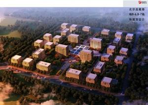 辦公樓產業園規劃總部基地sketchup模型