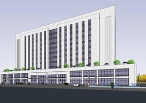 產業基地項目里的辦公樓 SU(草圖大師)模型
