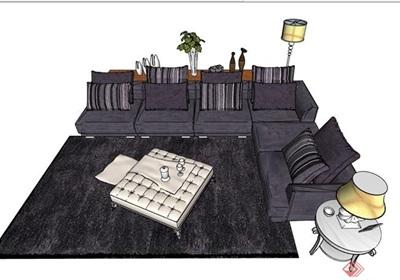 详细的完整沙发组合su亿博网络平台