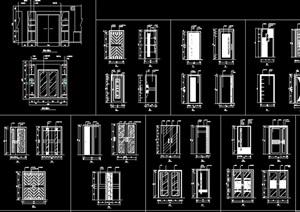某獨特的詳細室內門節點cad施工圖