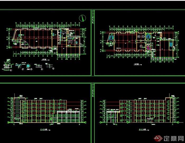 某详细的食堂综合楼cad施工图
