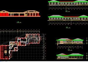 某详细的食堂建筑设计cad方案
