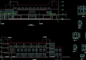 现代风格多层食堂平面布置设计cad方案图