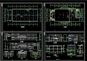 某详细的整体独特食堂建筑设计cad施工图
