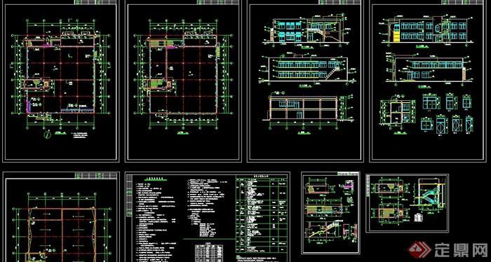 某完整的详细现代食堂建筑全套cad施工图