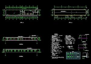现代风格单层食堂建筑设计cad方案