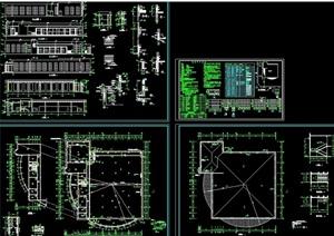 某职工食堂建筑设计cad施工图