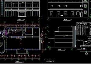某详细的食堂全套建筑设计cad施工图
