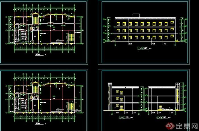 学校食堂建筑设计cad施工图