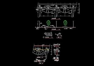 详细的完整花池花坛景观节点cad施工图