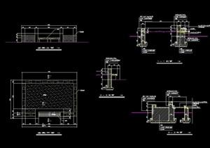 详细的完整树池坐凳cad施工图