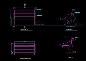某现代风格详细的座椅cad施工图