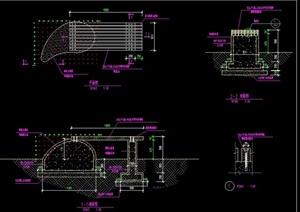 详细的现代整体坐凳完整设计cad施工图