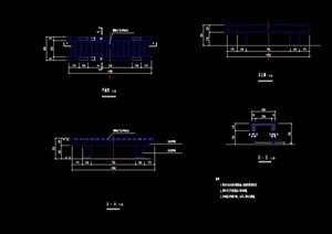 详细的完整独特坐凳素材设计cad施工图