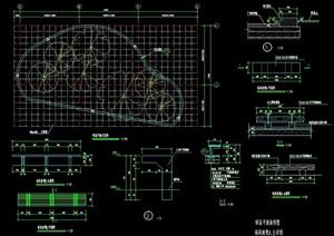 详细的休闲坐凳素材设计cad施工图