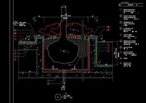 详细的花池花坛景观节点cad施工图