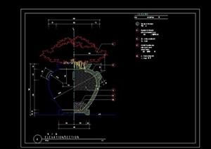 详细的花钵景观节点cad施工图