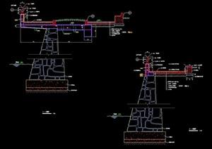 详细的完整挡墙素材设计cad施工图