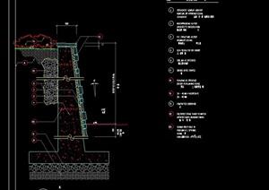 某完整的挡墙素材详细设计cad施工图