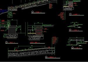 某现代独特完整的挡墙详细设计cad施工图