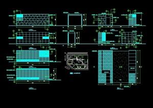 详细的整体现代入口大门素材cad施工图