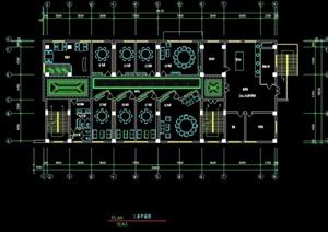 中餐廳詳細完整設計cad施工圖