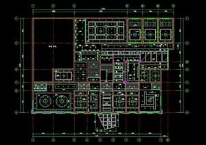 某詳細的整體餐館裝修設計CAD施工圖紙