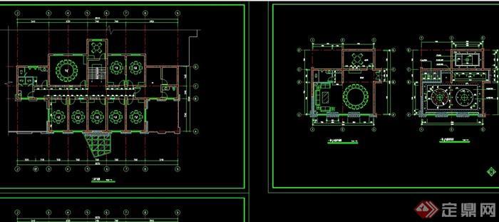 某详细的整体餐馆装修设计CAD施工图纸