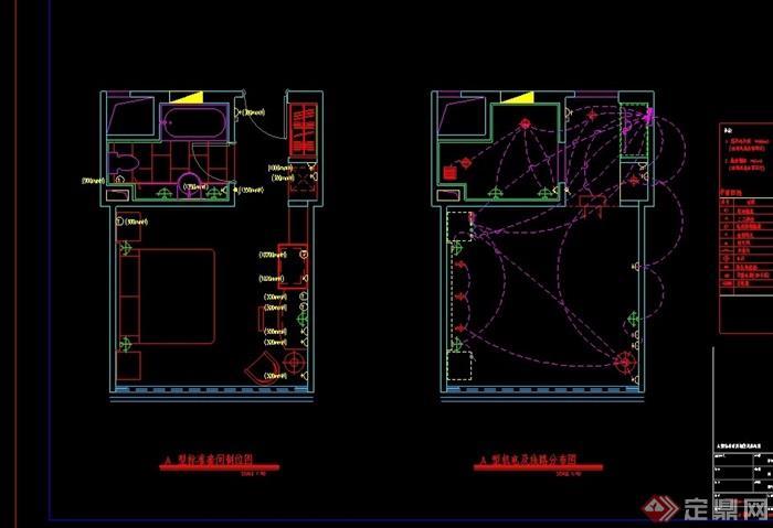 四星酒店餐厅标房设计cad施工图