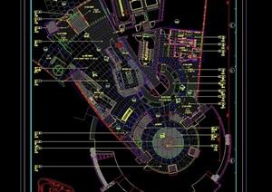 世茂酒店中餐廳詳細完整設計cad施工圖
