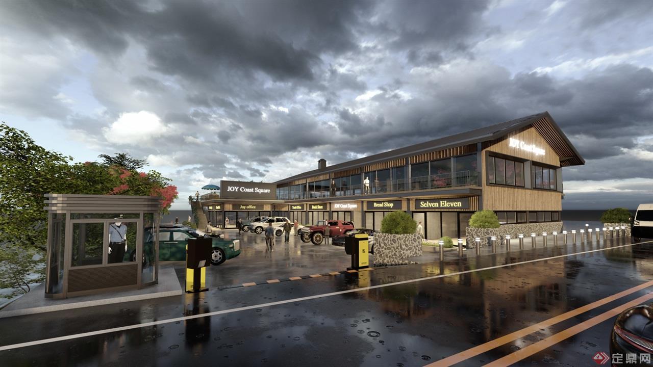 海岛咖啡厅景观建筑方案 (3)